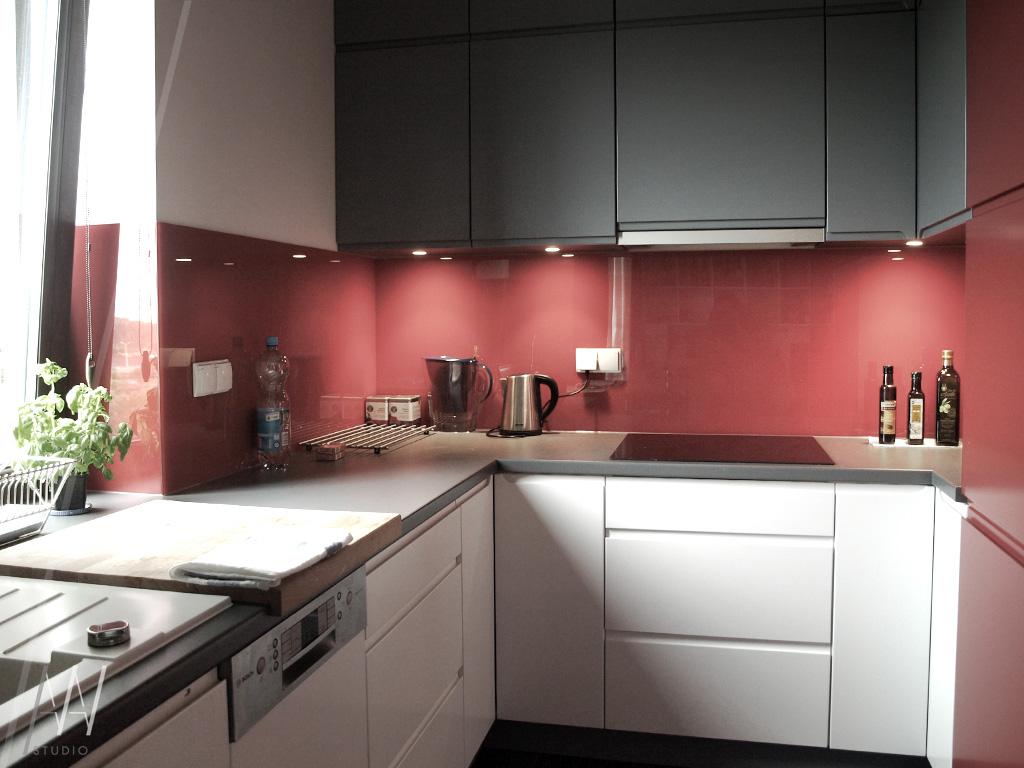 kuchnia biało-czerwona