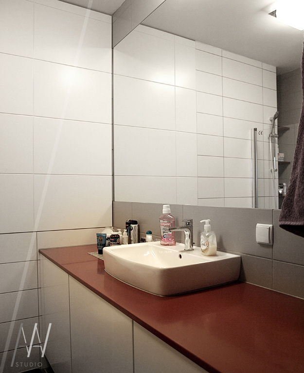 łazienka ukryte szafki