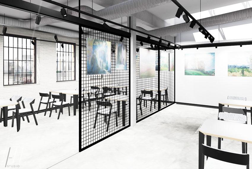 restauracja z galerią